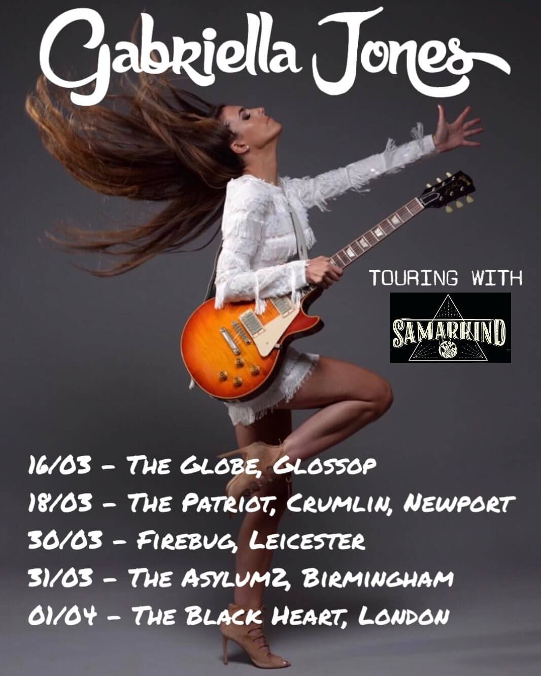 Gabriella Jones Tour Dates